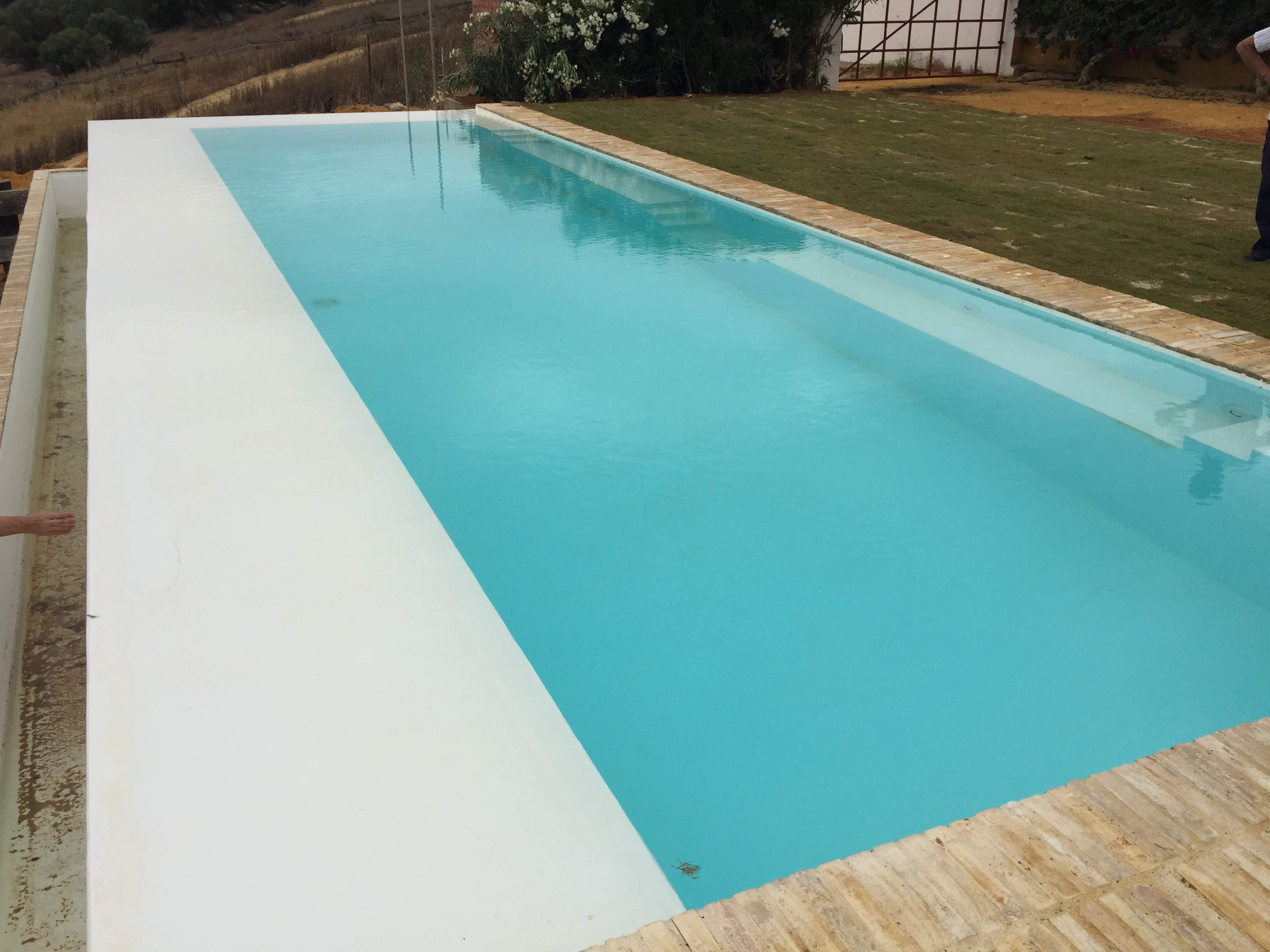 Rectangular infinity pool 12 x 3 5 piscinia - Piscina hinchable con asientos ...